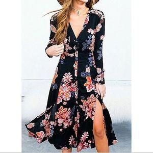 NWT Free People Miranda Dress with double slits